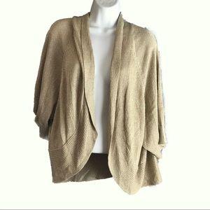 Calvin Klein Gold Open Front Crop Sweater Size #3X